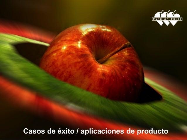 Casos de éxito / aplicaciones de producto