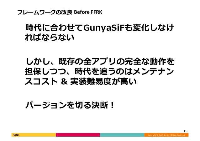 Copyright  (C)  DeNA  Co.,Ltd.  All  Rights  Reserved.   フレームワークの改良良  Before  FFRK    時代に合わせてGunyaSiF...