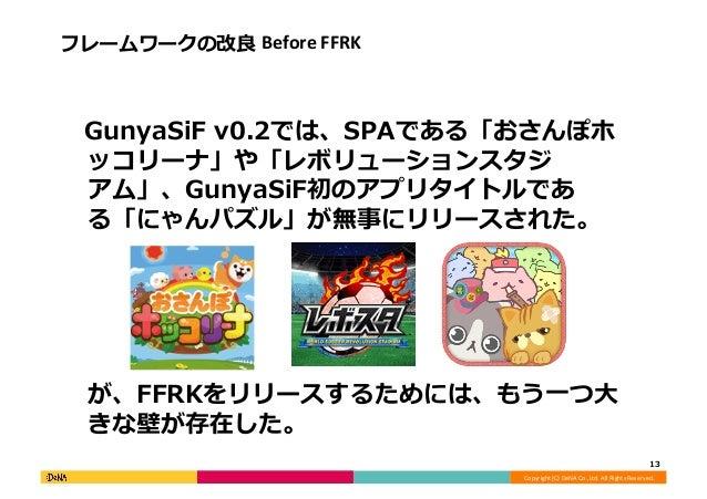 Copyright  (C)  DeNA  Co.,Ltd.  All  Rights  Reserved.   フレームワークの改良良  Before  FFRK    GunyaSiF  v0....