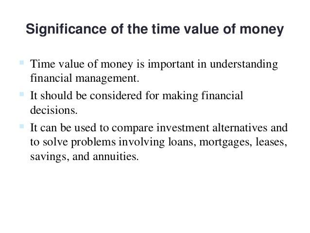 importance of time value of money in capital budgeting
