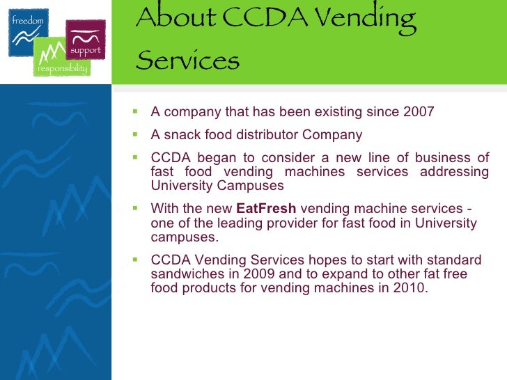 Vending Services Sample Business Plan