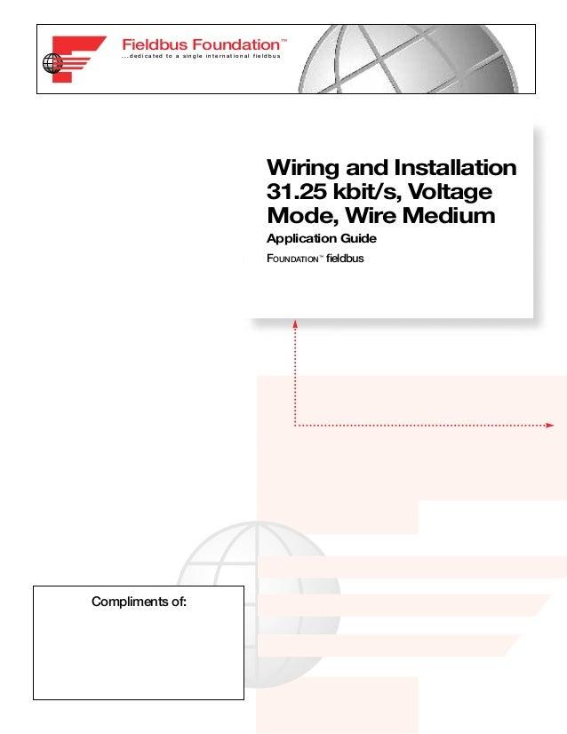 Fieldbus Foundation™    ...dedicated to a single international fieldbus                                               Wiri...