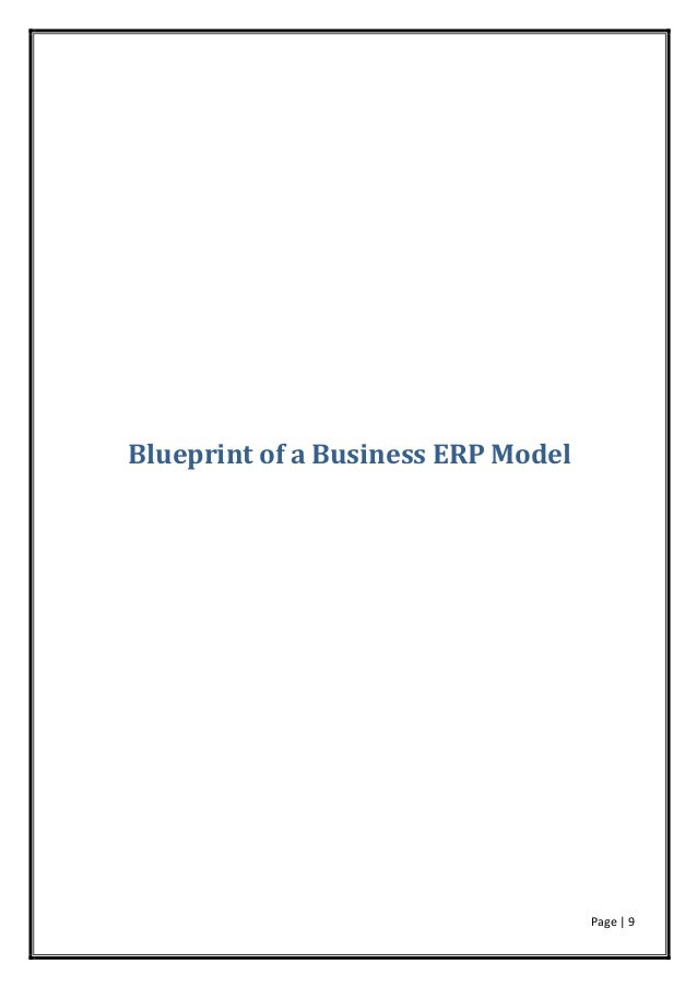 Erp introduction page 9 blueprint of a business erp model malvernweather Gallery