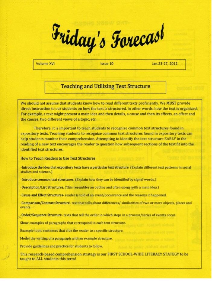 Friday's Forecast v. xvi no. 10 p1