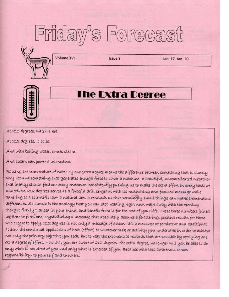 Friday's Forecast v. xvi no. 9 p1