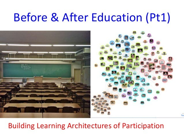 Before & After Education (Pt1) Building Learning Architectures of Participation