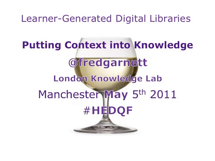 Learner-Generated Digital Libraries