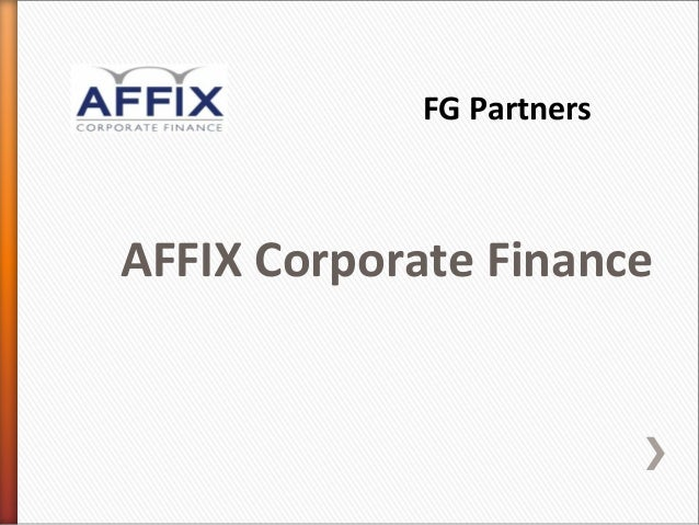 FG PartnersAFFIX Corporate Finance