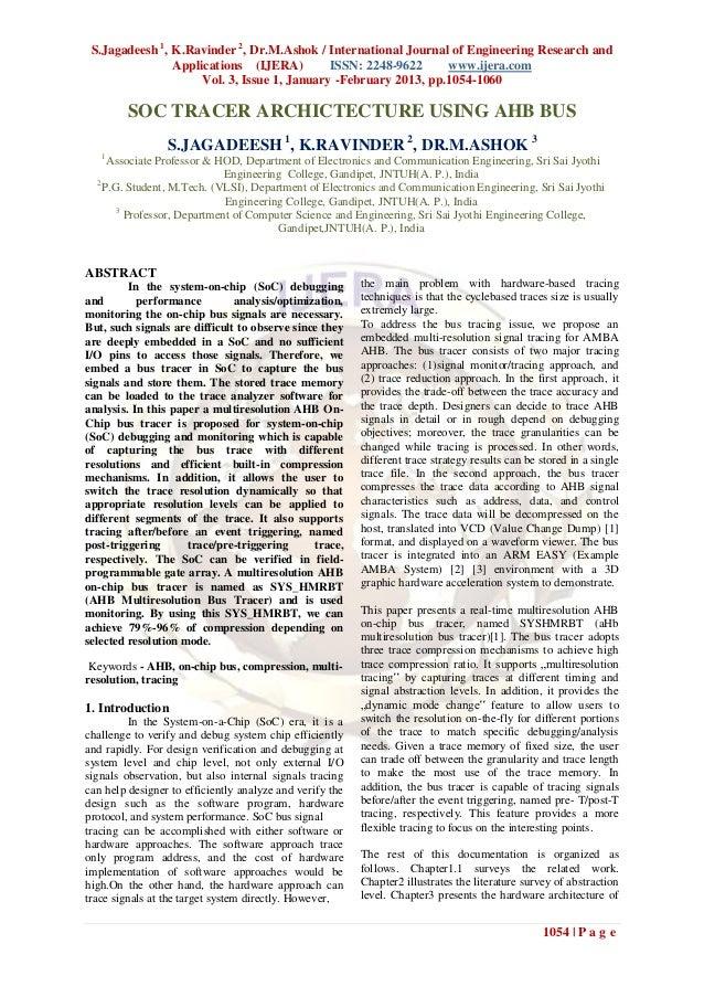 S.Jagadeesh 1, K.Ravinder 2, Dr.M.Ashok / International Journal of Engineering Research and                Applications (I...