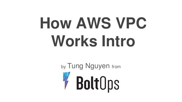 How AWS VPC Works Intro by Tung Nguyen from