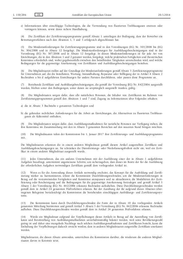 F-Gas Verordnung