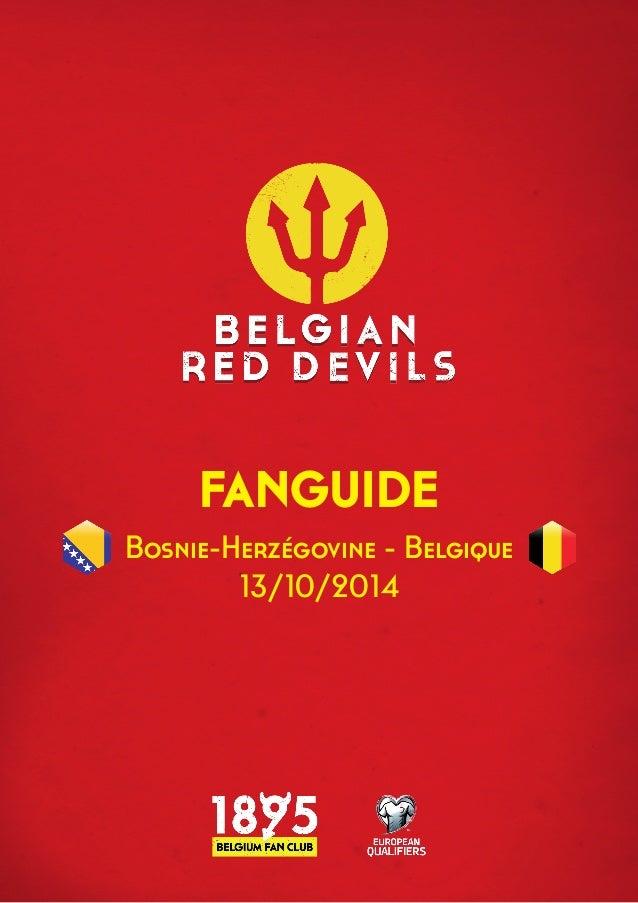 FANGUIDE  Bosnie-Herzégovine - Belgique  13/10/2014