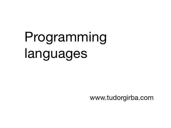 11 - Programming languages