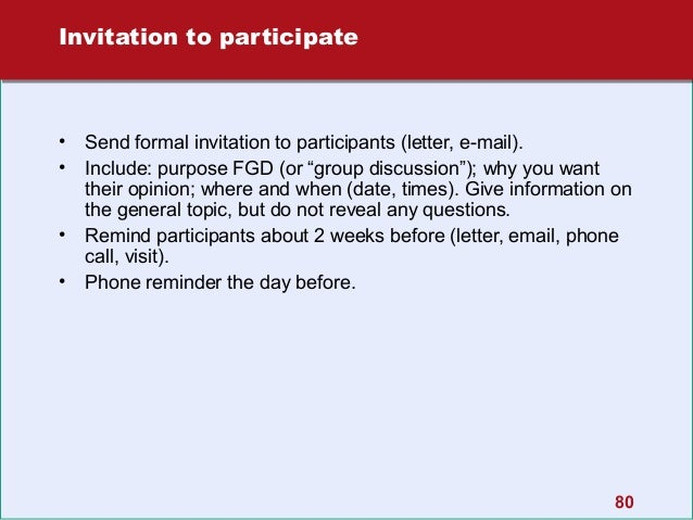 Focus group discussions a step by step guide invitation stopboris Choice Image