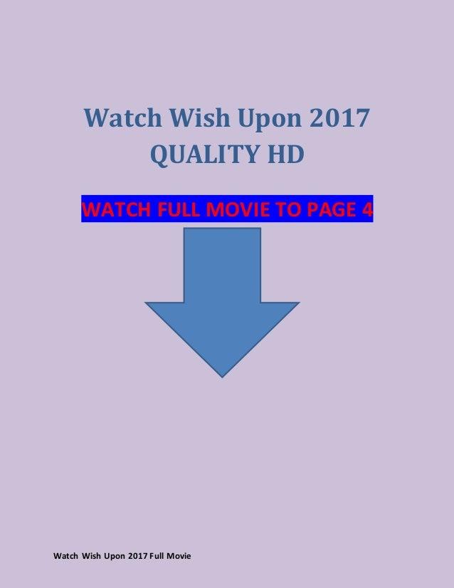Wish Upon Online Free