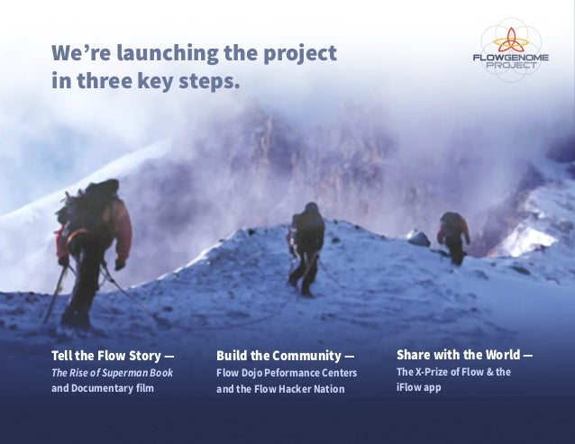 Tell the Flow Story — The Rise of Superman Book and Documentary film We're launching the project in three key steps. Build...