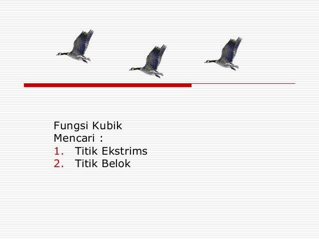 Fungsi KubikMencari :1. Titik Ekstrims2. Titik Belok