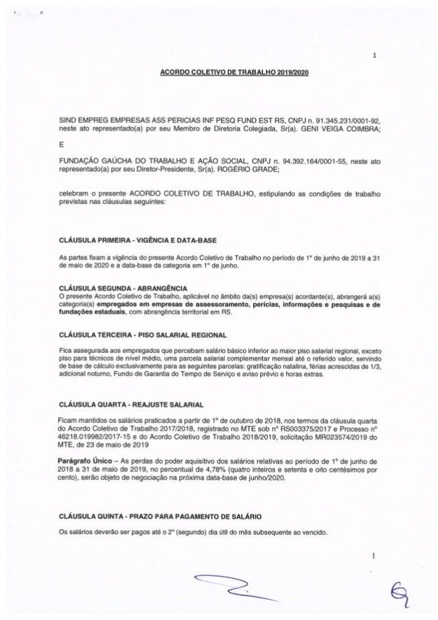 Acordo Coletivo FGTAS