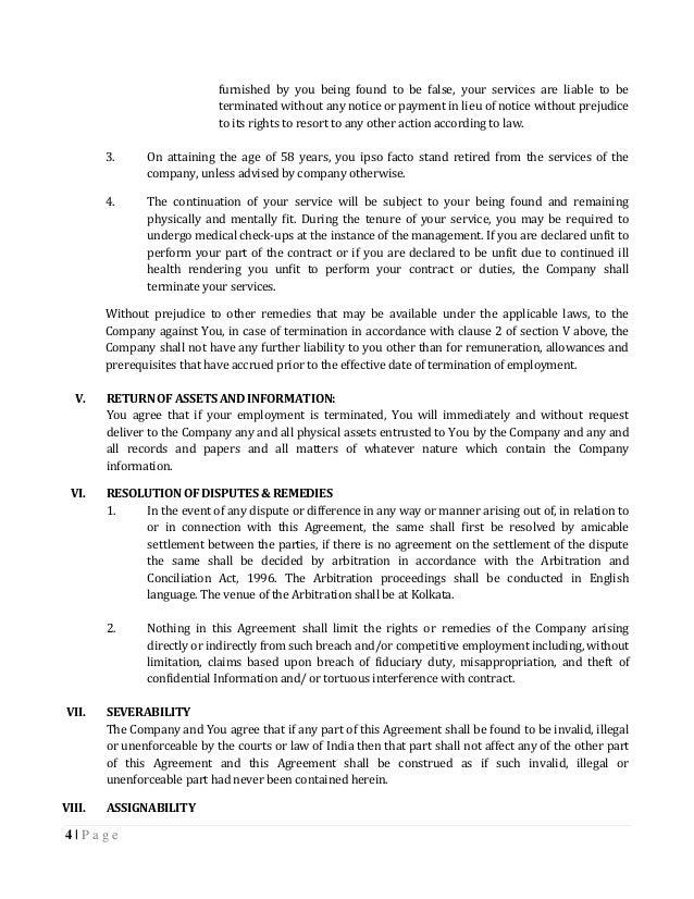 Renesola India Employment Agreement