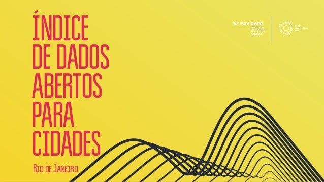 ÍNDICE DEDADOS ABERTOS PARA CIDADESRiodeJaneiro