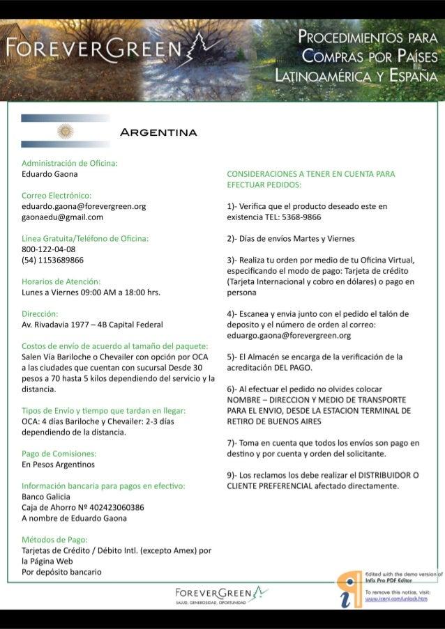 """wr-v'*v """"ra.  . _s . 'L. .,_  ARGENTINA     Administración de Oficina:  Eduardo Gaona  Correo Electrónico:  eduardo. gaona@..."""
