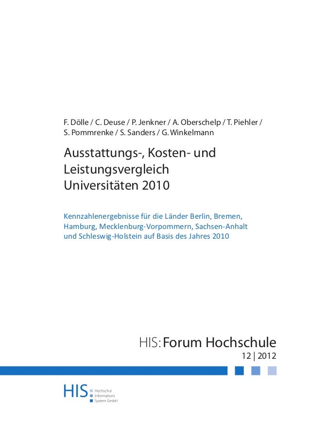 F. Dölle / C. Deuse / P. Jenkner / A. Oberschelp / T. Piehler /S. Pommrenke / S. Sanders / G. WinkelmannAusstattungs-, Kos...