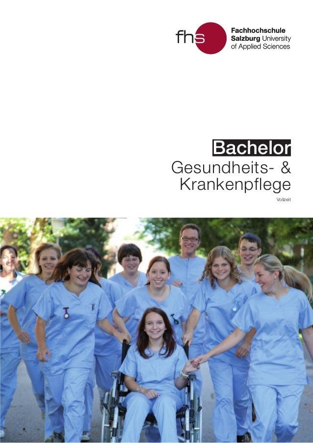 BachelorBachelor Vollzeit Gesundheits- & Krankenpflege