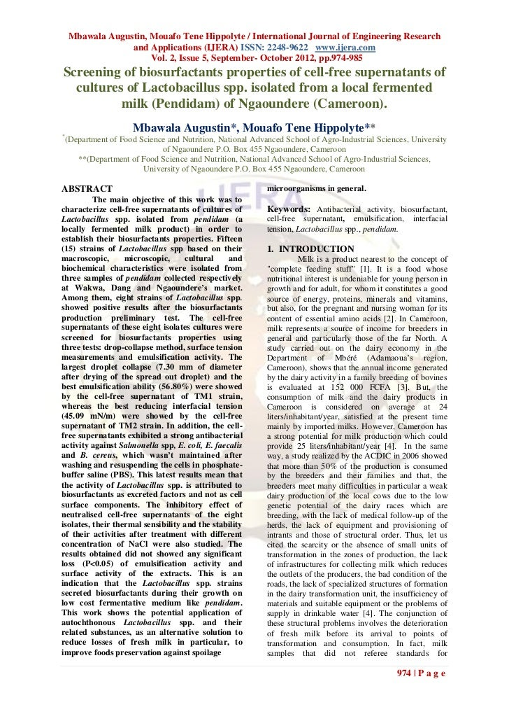 Mbawala Augustin, Mouafo Tene Hippolyte / International Journal of Engineering Research                  and Applications ...