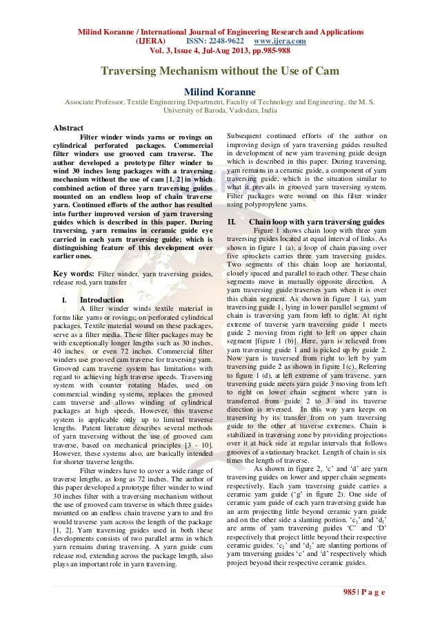 Milind Koranne / International Journal of Engineering Research and Applications (IJERA) ISSN: 2248-9622 www.ijera.com Vol....