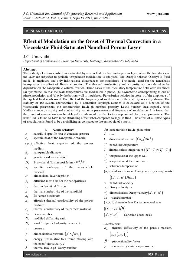 J.C. Umavathi Int. Journal of Engineering Research and Application ISSN : 2248-9622, Vol. 3, Issue 5, Sep-Oct 2013, pp.923...