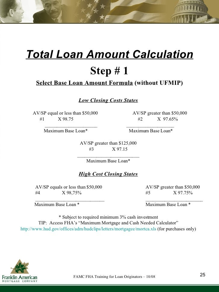 Printables Fha Streamline Calculation Worksheet fha training for loan originators oct 08 26 total amount calculation