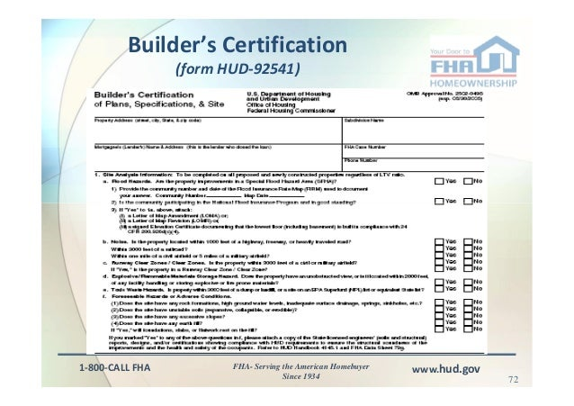 Hud Form 92541 Cogu Lessecretsdeparis Co