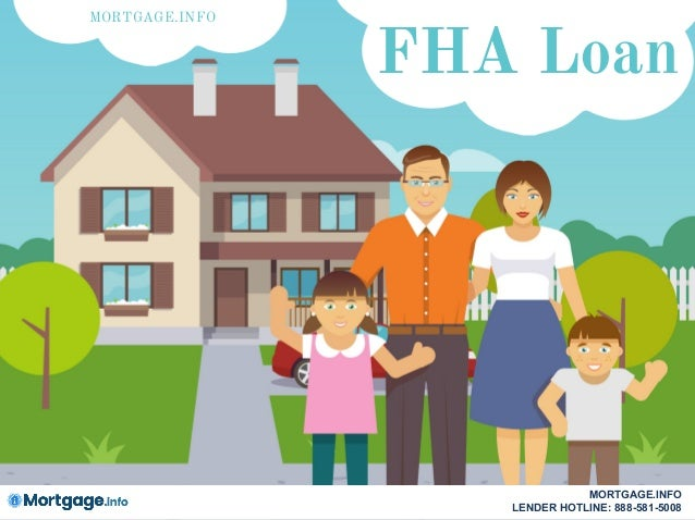 FHA Loan MORTGAGE.INFO MORTGAGE.INFO LENDER HOTLINE: 888-581-5008