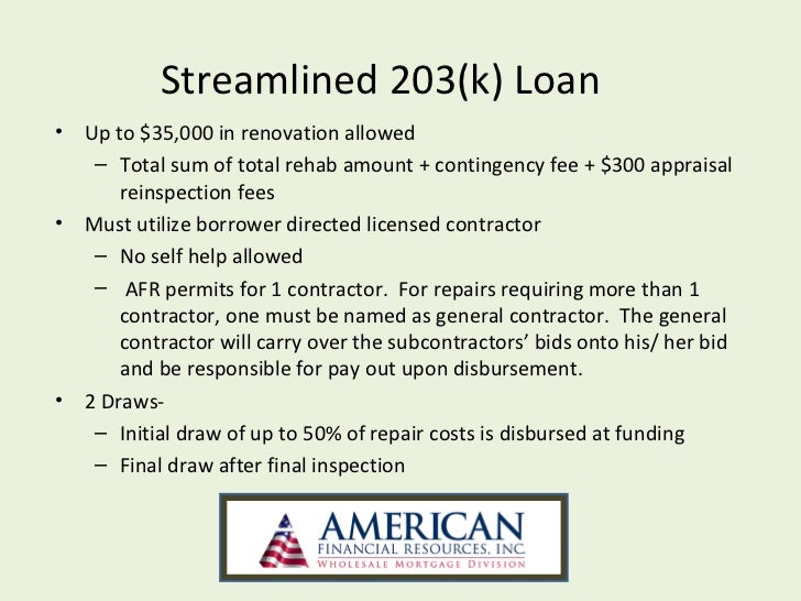 Fha streamline 203k powerpoint for What do appraisers look for