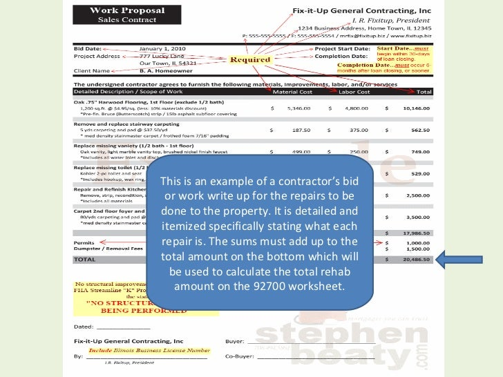 203k Max Mortgage Worksheet: Welcome To Fha 203 K Ppt, Mortgage ...