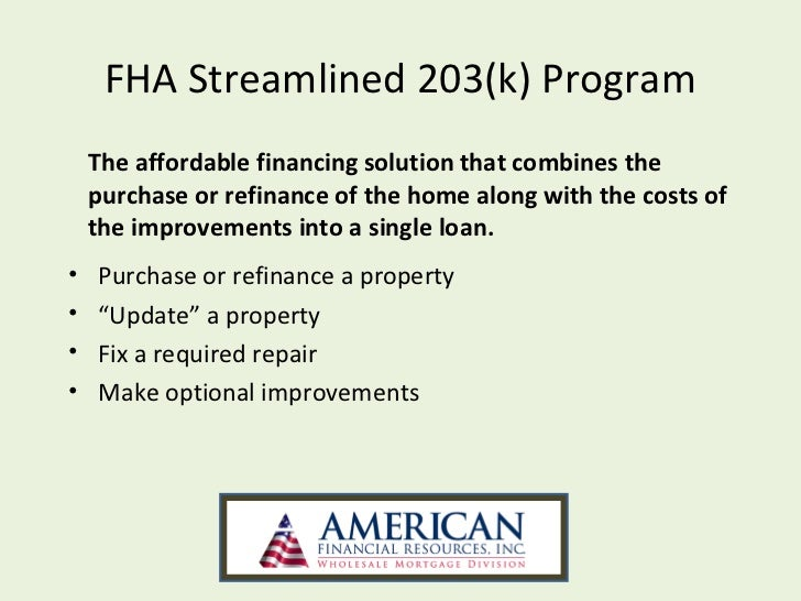 Is the Limited FHA 203k Different from the Streamline 203k? | PRMI ...