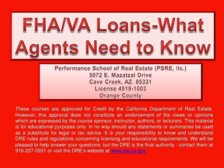 These courses are approved for Credit by the California Department of Real Estate.However, this approval does not constitu...