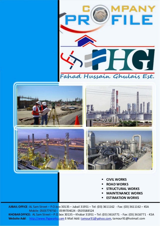 FHG Contracting Company Profile (Construction Works)