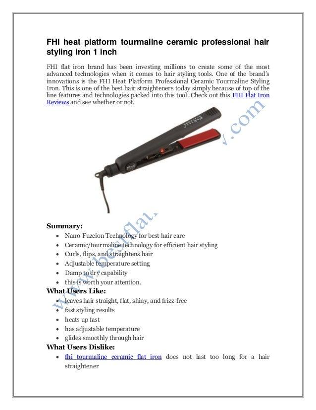 Fhi Heat Platform Tourmaline Ceramic Hair Straightener Reviews