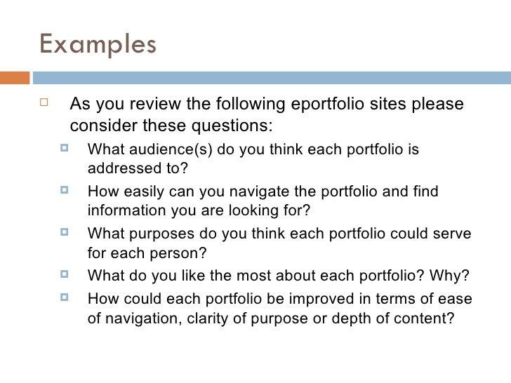 Introduction To Teaching Portfolios