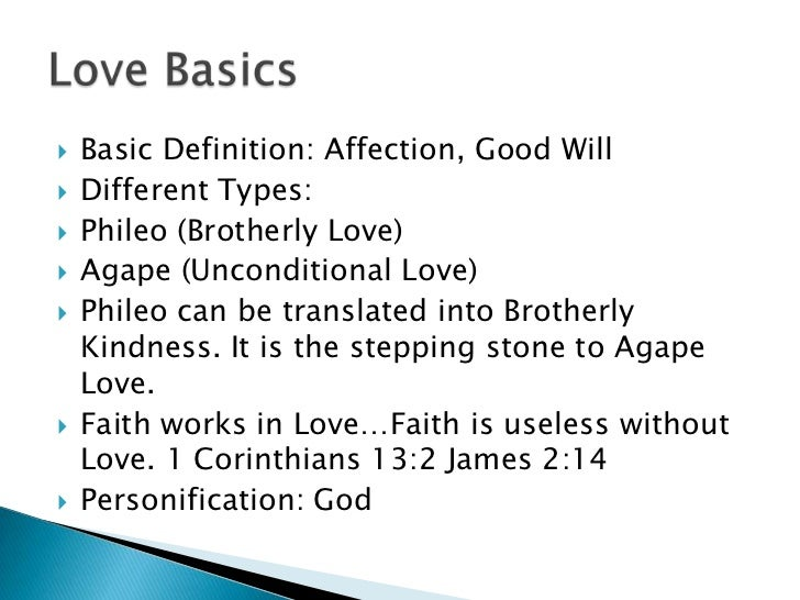 Define brotherly love in the bible
