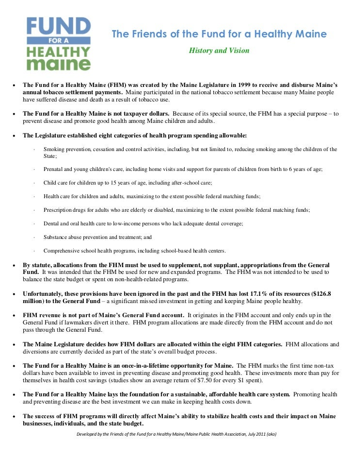 The Friends of the Fund for a Healthy Maine                                                                               ...