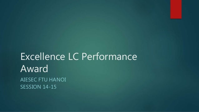 Excellence LC Performance Award AIESEC FTU HANOI SESSION 14-15