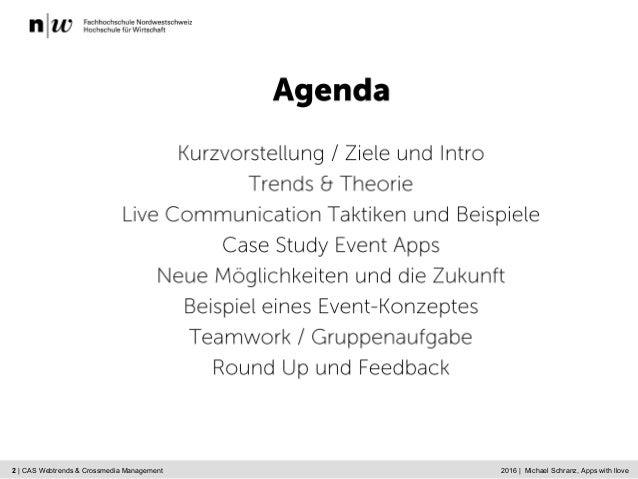 Live Communication and Crossmedia Management