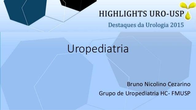 Uropediatria Bruno Nicolino Cezarino Grupo de Uropediatria HC- FMUSP