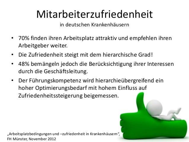 Mitarbeiterzufriedenheit in deutschen Krankenhäusern • 70% finden ihren Arbeitsplatz attraktiv und empfehlen ihren Arbeitg...