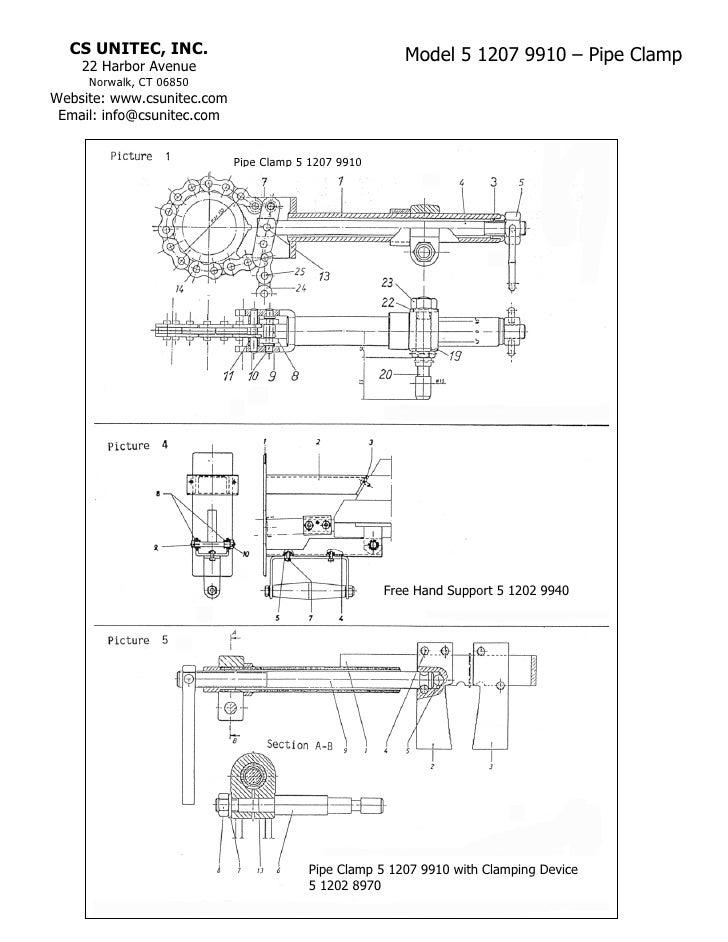 CS UNITEC, INC.                                       Model 5 1207 9910 – Pipe Clamp    22 Harbor Avenue     Norwalk, CT 0...