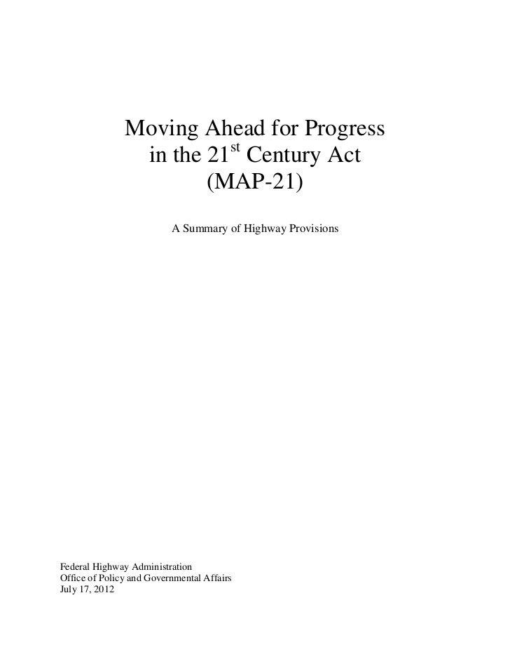 Map 21 Act.Fhwa Map 21 Summary