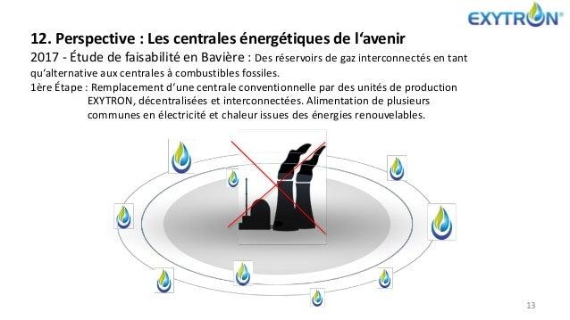 13 12. Perspective : Les centrales énergétiques de l'avenir 2017 - Étude de faisabilité en Bavière : Des réservoirs de gaz...
