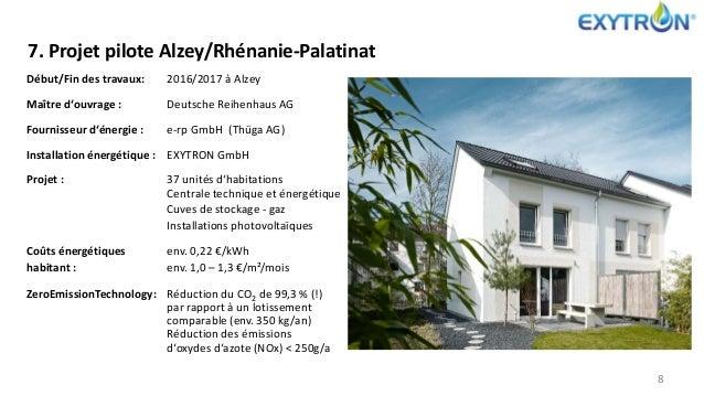 7. Projet pilote Alzey/Rhénanie-Palatinat 8 Début/Fin des travaux: 2016/2017 à Alzey Maître d'ouvrage : Deutsche Reihenhau...